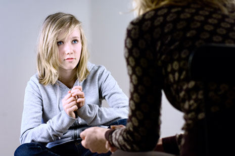 Teen in Counseling Session